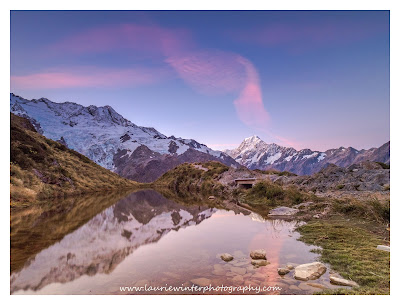 Aoraki, Mt Cook, Sealy Tarns, Sunset