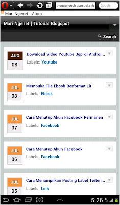 Cara Mengganti Tampilan Mobile Blogspot Bloggertouch, merubah template mobile
