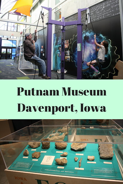 Science and history exploration at Putnam Museum in Davenport, Iowa