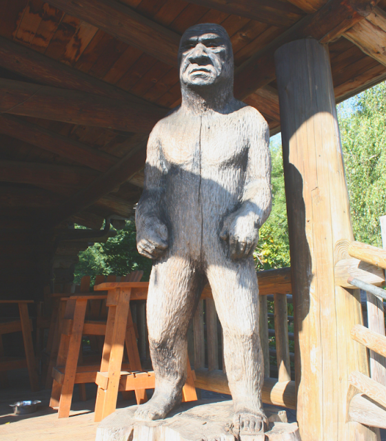 Woodcarved Big Foot at Camp 18 in Elsie, Oregon on Route 26 between Portland, Oregon and the Oregon Coast