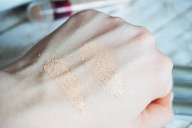 Maybelline - Instant Anti-Age Effekt Der Löscher Auge in 03 Fair, Maybelline - Dream Pure 8-in-1 BB Cream in hell, Swatch