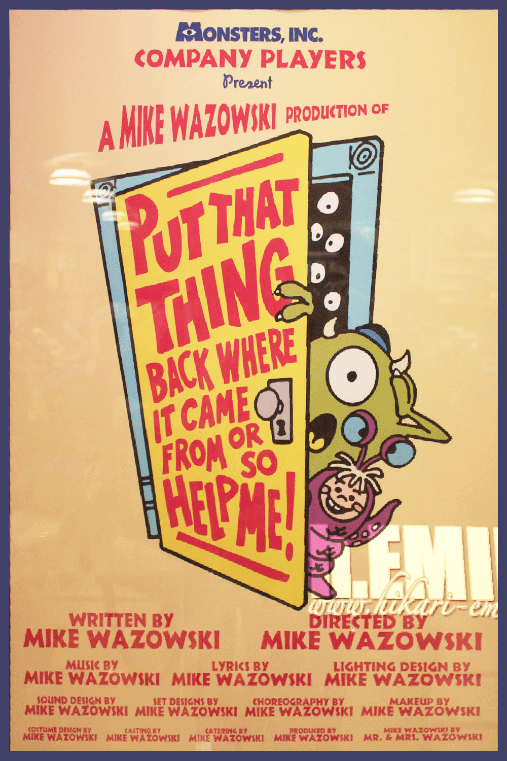 Put That In Your Cake And Bake It Poop Cakes: The Geeky Nerfherder: Movie Poster Art: Monsters Inc (2001