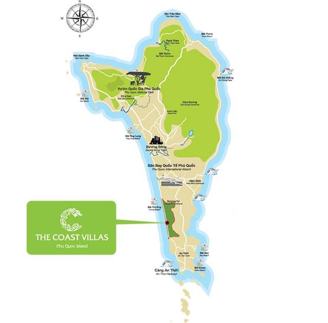 Vị trí The Coast Villas Bãi Trường Phú Quốc