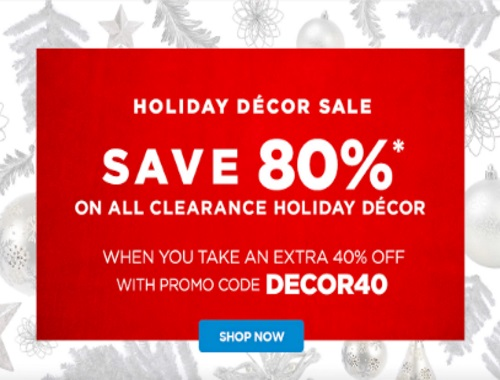 The Shopping Channel Holiday Decor Sale 80% Off Clearance Holiday Decor Promo Code