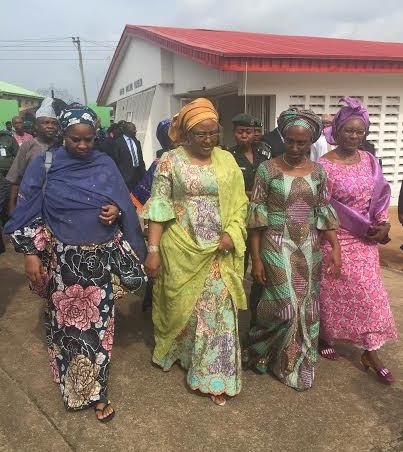 Image result for Aisha Buhari Condoles With Families