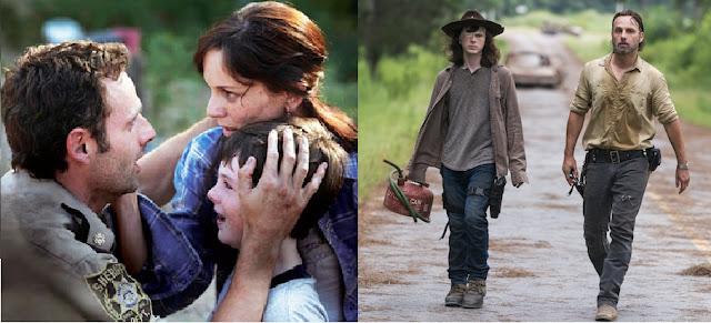 The Walking Dead, 1st & last episode with Carl Grimes