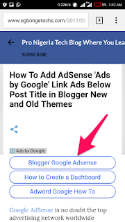 How To Add AdSense 'Ads by Google' Link Ads Below Post Title in Blogger New and Old Themes