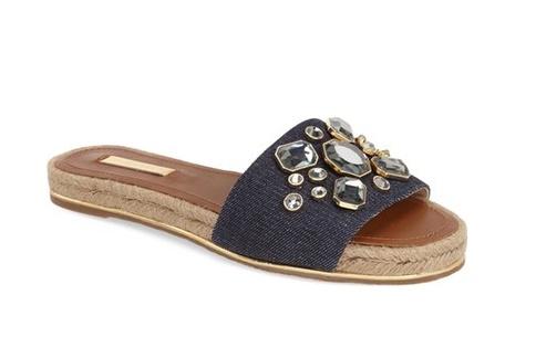 Louise et Cie caden fringe slide sandal