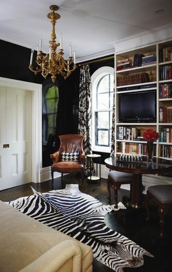 cowhide zebra modern rug rugs living room coffee table ...
