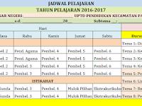 Jadwal Pelajaran Kurikulum 2013 SD/MI Flus Alokasi Waktu Tema Tahun 2016
