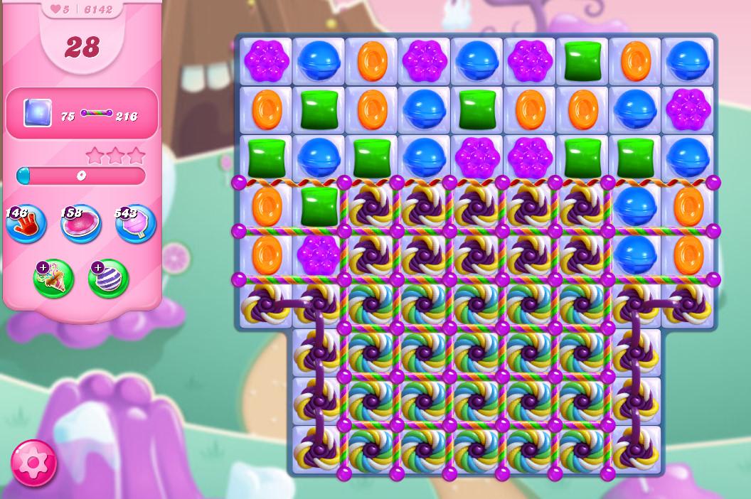 Candy Crush Saga level 6142