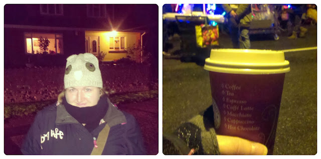 Wrapped up warm for the Carnival - A nice cup of tea