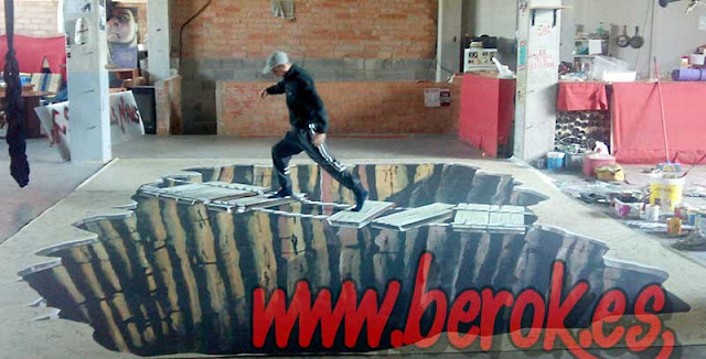graffiti 3d suelo