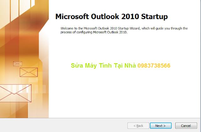 Cài đặt Mail trên Microsoft Outlook 2010 - H01