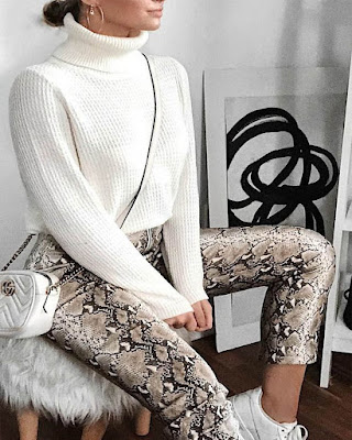 outfit de invierno snake print