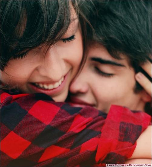 cute lovers couple hug lovepicturex. Black Bedroom Furniture Sets. Home Design Ideas