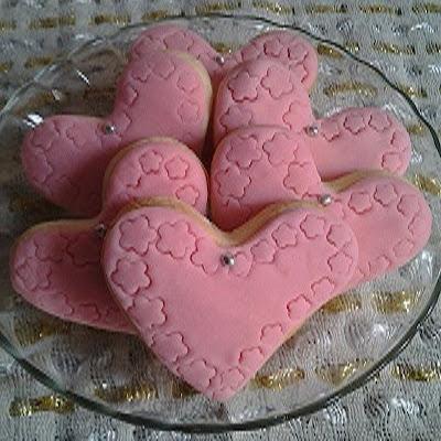kalp kurabiye süsleme