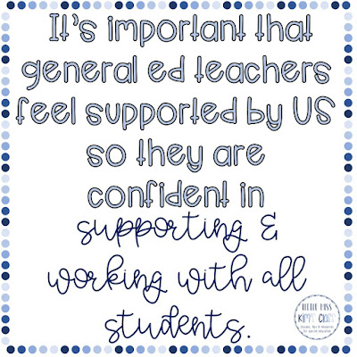 Special Education: Working with general education teachers