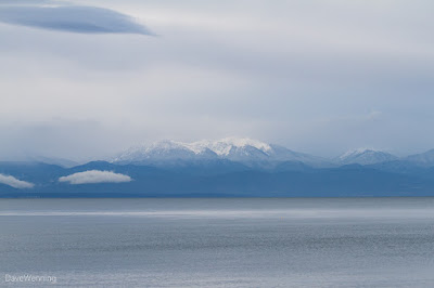 Olympic Mountains from Deception Pass State Park