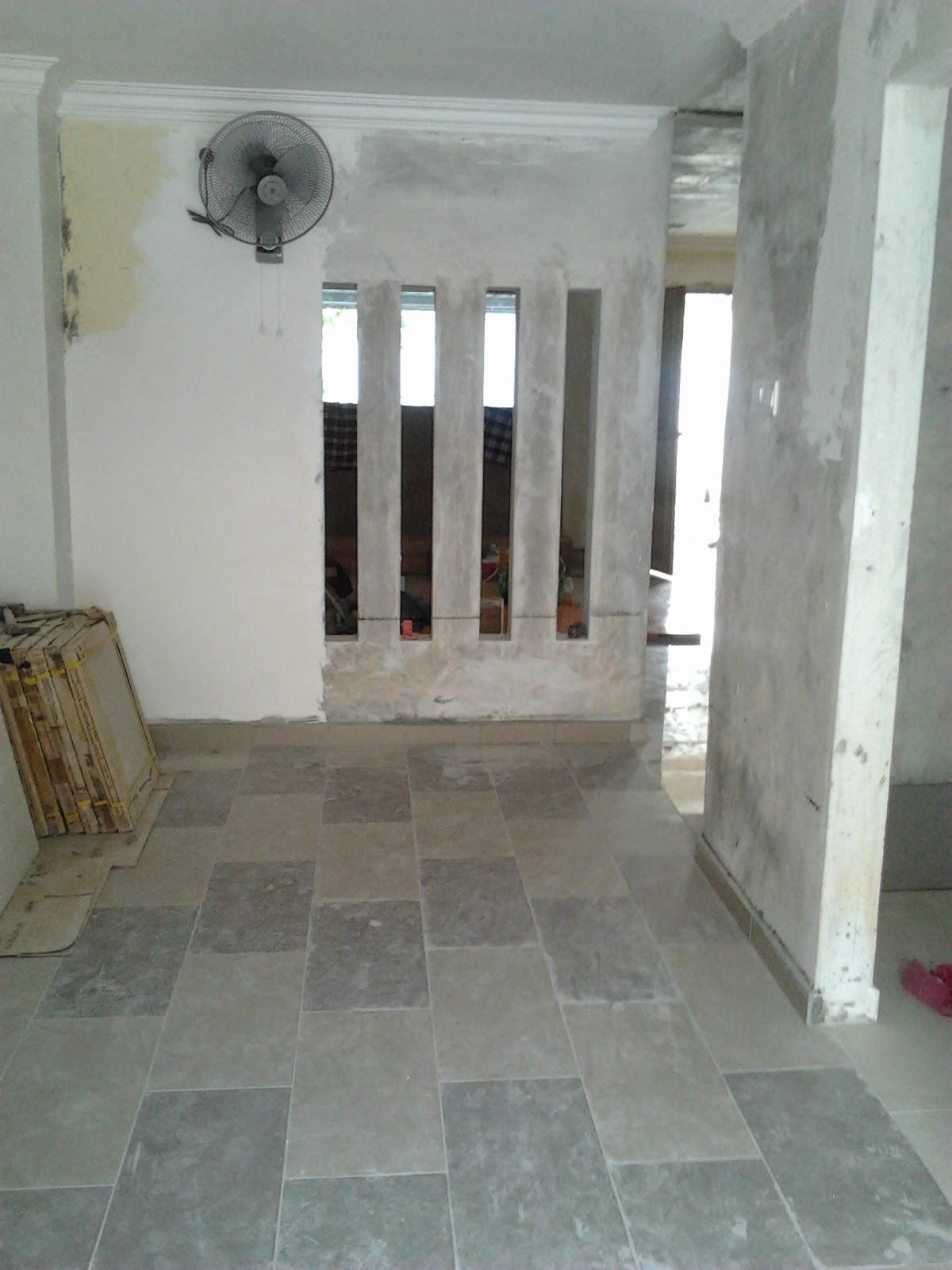 Ruang Dapur Dah Siap Tile