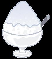 かき氷のイラスト(みぞれ)
