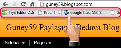 Google Chrome Yer İşaretleri