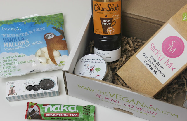 A picture of December 2015 The Vegan Kind Box
