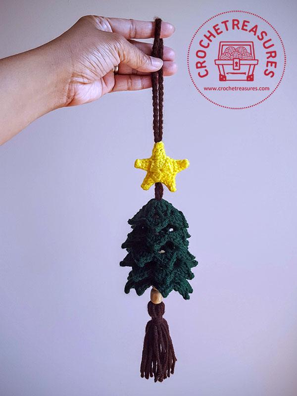 crochet treasures christmas tree hanging ornament