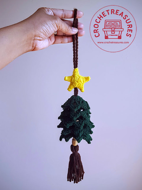 Christmas Tree Ornament, Free Crochet Pattern