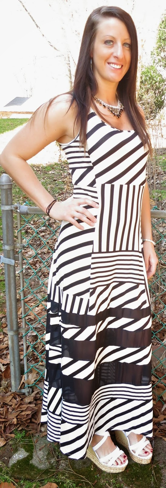 summer dress, stripes, black and white, fashion, outfit, peter som, peter som for kohls