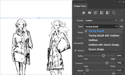View options in Image Trace Panel in Illustrator