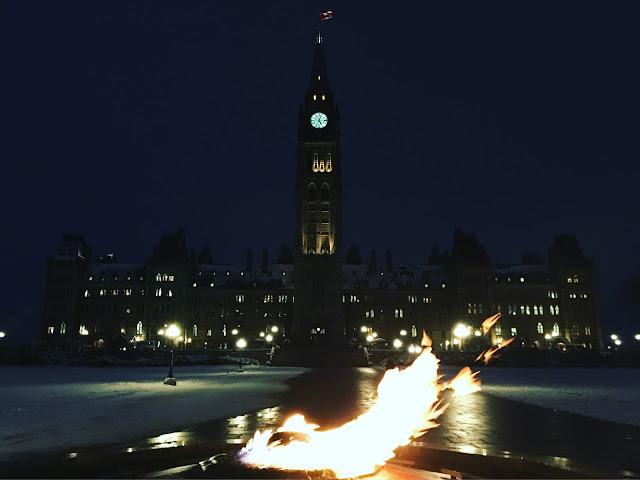 canada parliament fire