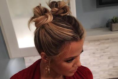 Рожки из волос