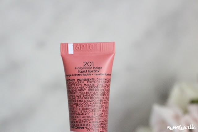 lip paint matte l'oréal 201