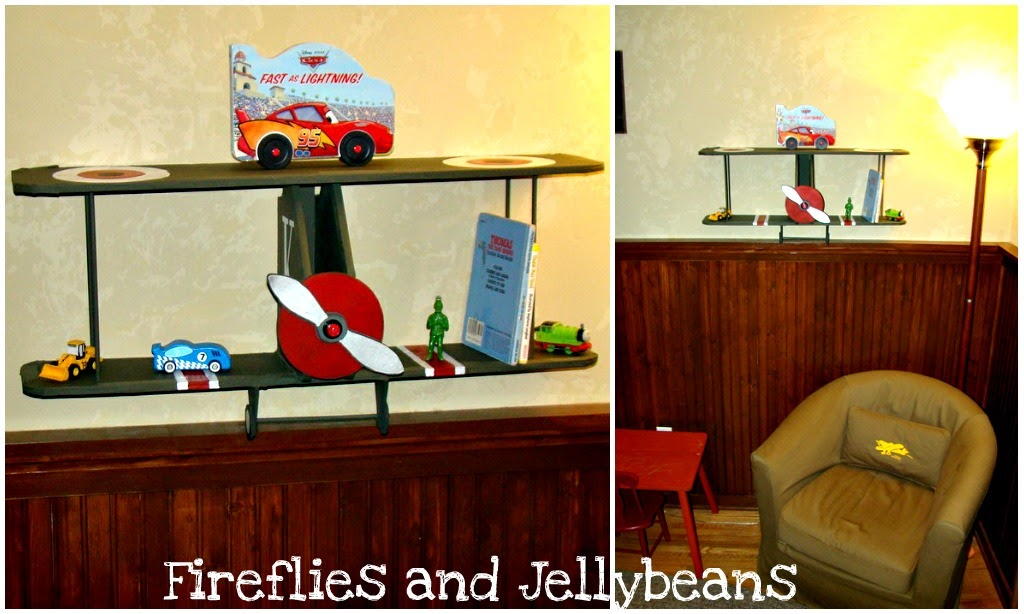 Fireflies And Jellybeans Airplane Shelf With Elmers Craft