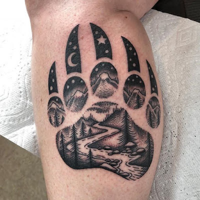 bear claw tattoo for men forearms