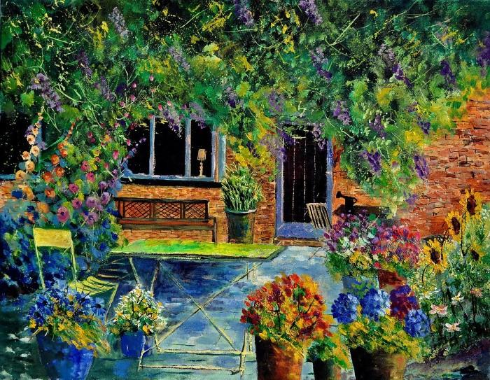 Pol Ledent. Современный художник-самоучка. Пейзажи и цветы 17
