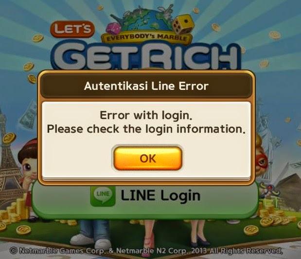 Cara Memperbaiki Line Lets Get Rich yang Error