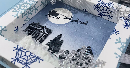 Christmas Shadow Frame box Card Class