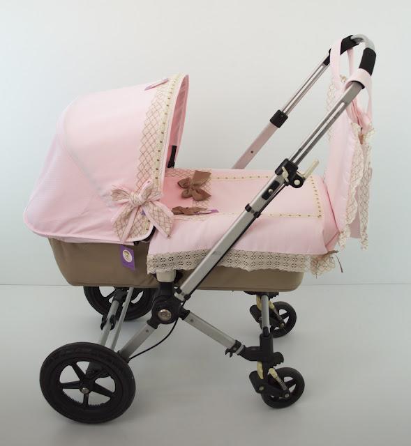 colcha lencera capazo Bugaboo Camaleon rosa beige