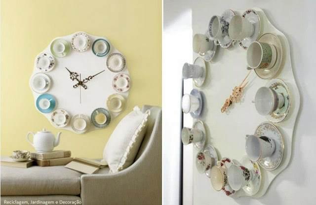 que tal amigas estas pensando tiras las tazas del te o de cafe que te heredo tu abuela o bisabuelau aqu te damos esta linda y muy original idea de reloj