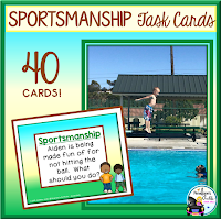 good sportsmanship task cards
