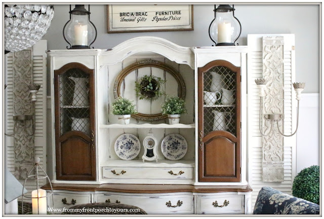 French Country-Farmhouse-Dining Room-China Cabinet-Hutch-From My Front Porch To Yours