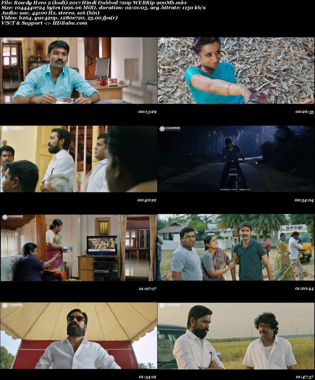 Rowdy Hero 2 (kodi) 2017 Hindi Dubbed 720p WEBRip 900MB Screenshot