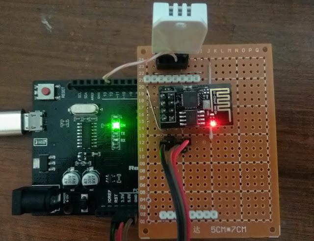 Arduino memantau suhu dengan web