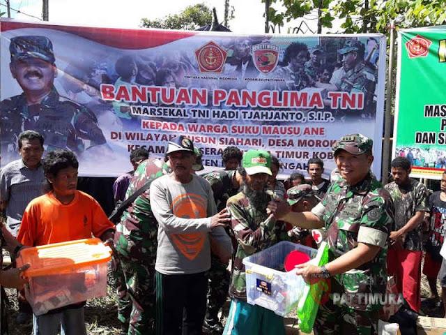 Bantuan Kemanusiaan Bagi Suku Mausu Ane Tiba dan Dibagikan