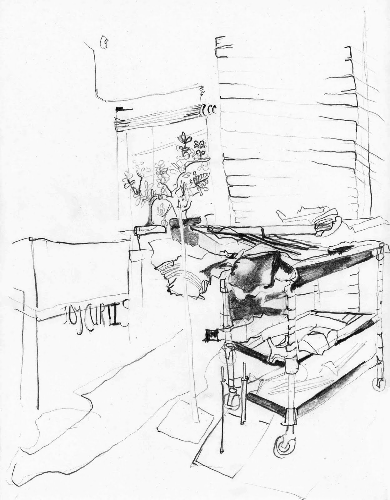 pencil in the studio april 2011 Glass Studio Desk it was like a home ing studio visit her sculptures were all wrapped up in blankets adding a special calmness and warmth to the space and our time