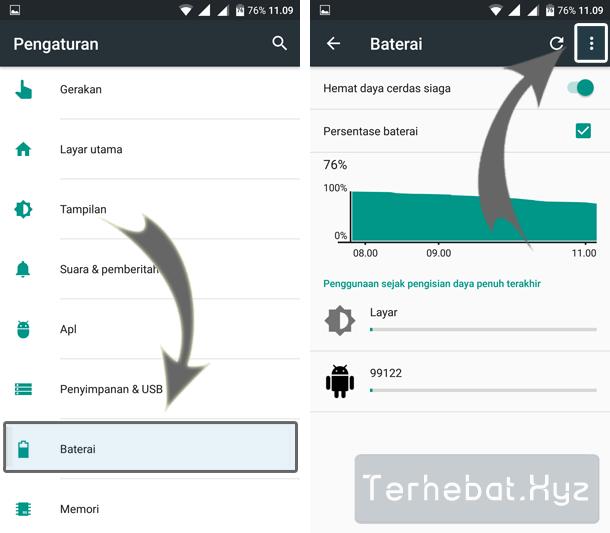 hemat baterai android tanpa aplikasi dan root