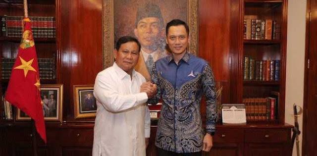 AHY Bahas Sinkronisasi Kampanye Bareng Prabowo
