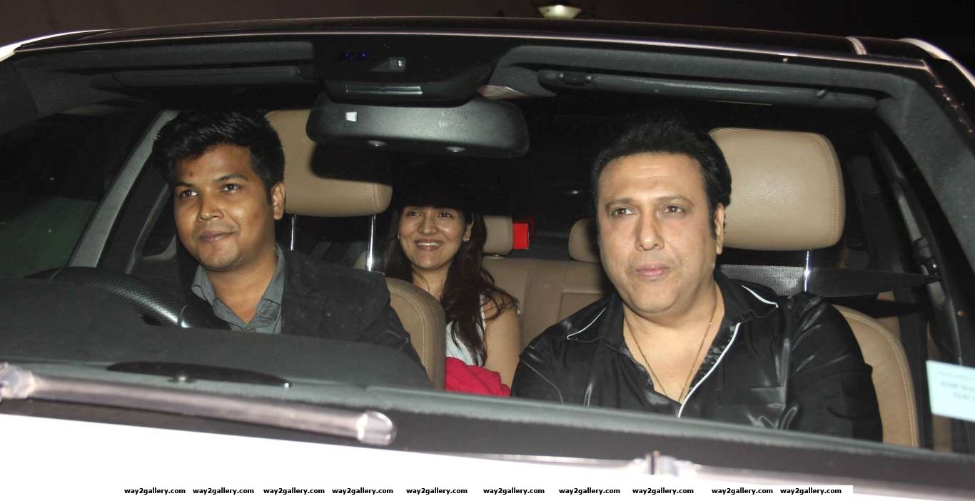 Govinda arrives for the special screening of Baaghi